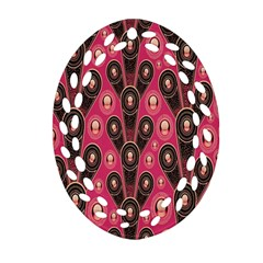 Background Abstract Pattern Oval Filigree Ornament (Two Sides)