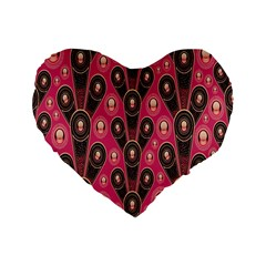 Background Abstract Pattern Standard 16  Premium Flano Heart Shape Cushions