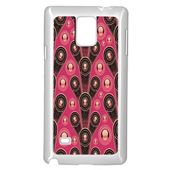 Background Abstract Pattern Samsung Galaxy Note 4 Case (White)