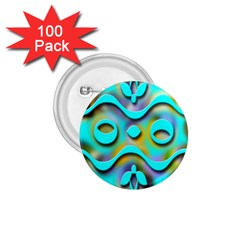 Background Braid Fantasy Blue 1.75  Buttons (100 pack)