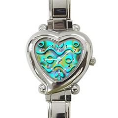 Background Braid Fantasy Blue Heart Italian Charm Watch
