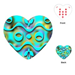 Background Braid Fantasy Blue Playing Cards (Heart)
