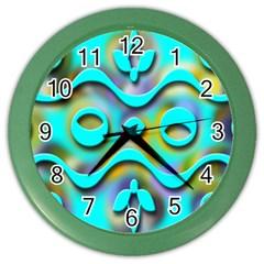 Background Braid Fantasy Blue Color Wall Clocks