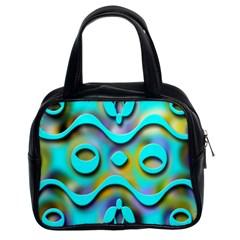 Background Braid Fantasy Blue Classic Handbags (2 Sides)