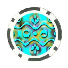 Background Braid Fantasy Blue Poker Chip Card Guard (10 pack)
