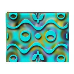 Background Braid Fantasy Blue Cosmetic Bag (xl)