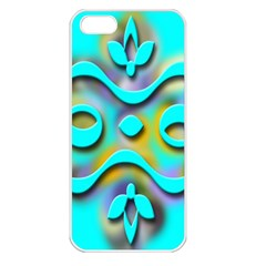 Background Braid Fantasy Blue Apple iPhone 5 Seamless Case (White)