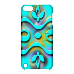 Background Braid Fantasy Blue Apple Ipod Touch 5 Hardshell Case With Stand