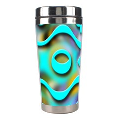 Background Braid Fantasy Blue Stainless Steel Travel Tumblers