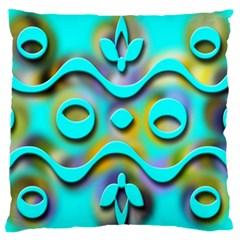 Background Braid Fantasy Blue Large Flano Cushion Case (one Side)