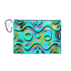 Background Braid Fantasy Blue Canvas Cosmetic Bag (M)