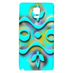 Background Braid Fantasy Blue Galaxy Note 4 Back Case Front