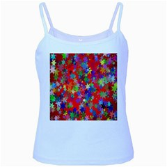 Background Celebration Christmas Baby Blue Spaghetti Tank