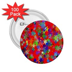 Background Celebration Christmas 2.25  Buttons (100 pack)