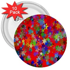 Background Celebration Christmas 3  Buttons (10 pack)
