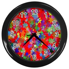 Background Celebration Christmas Wall Clocks (Black)