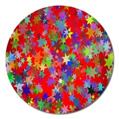 Background Celebration Christmas Magnet 5  (Round)