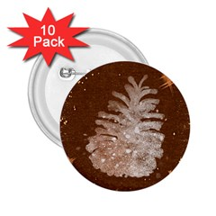 Background Christmas Tree Christmas 2.25  Buttons (10 pack)