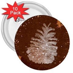 Background Christmas Tree Christmas 3  Buttons (10 Pack)