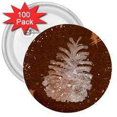 Background Christmas Tree Christmas 3  Buttons (100 pack)