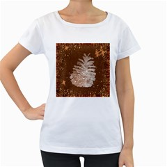 Background Christmas Tree Christmas Women s Loose Fit T Shirt (white)