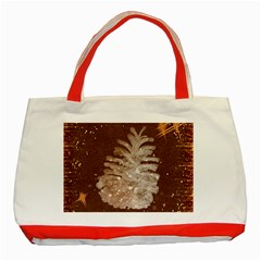 Background Christmas Tree Christmas Classic Tote Bag (Red)