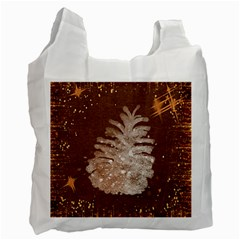 Background Christmas Tree Christmas Recycle Bag (Two Side)