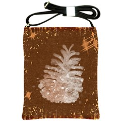 Background Christmas Tree Christmas Shoulder Sling Bags