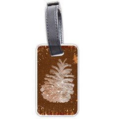Background Christmas Tree Christmas Luggage Tags (Two Sides)