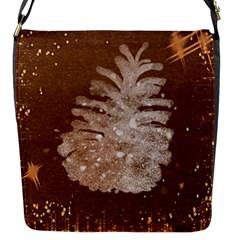 Background Christmas Tree Christmas Flap Messenger Bag (S)