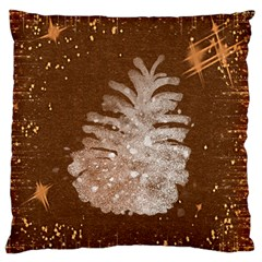 Background Christmas Tree Christmas Large Flano Cushion Case (One Side)