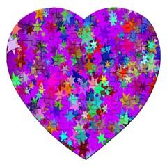 Background Celebration Christmas Jigsaw Puzzle (Heart)