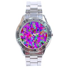 Background Celebration Christmas Stainless Steel Analogue Watch