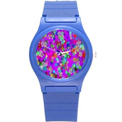 Background Celebration Christmas Round Plastic Sport Watch (s)