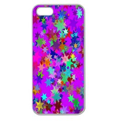 Background Celebration Christmas Apple Seamless Iphone 5 Case (clear)