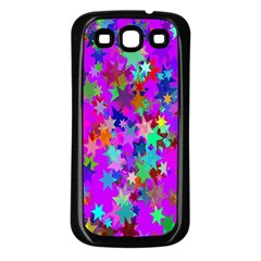 Background Celebration Christmas Samsung Galaxy S3 Back Case (Black)