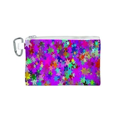 Background Celebration Christmas Canvas Cosmetic Bag (S)