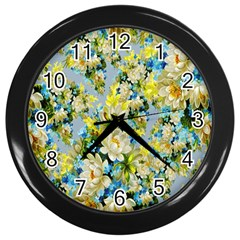 Background Backdrop Patterns Wall Clocks (black)