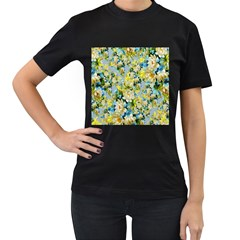 Background Backdrop Patterns Women s T-Shirt (Black) (Two Sided)