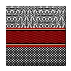 Background Damask Red Black Tile Coasters