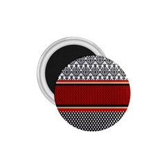 Background Damask Red Black 1.75  Magnets