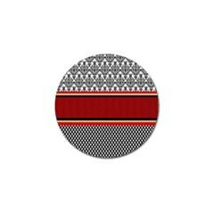 Background Damask Red Black Golf Ball Marker