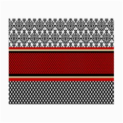 Background Damask Red Black Small Glasses Cloth (2 Side)