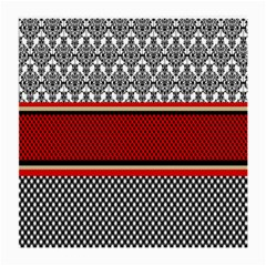 Background Damask Red Black Medium Glasses Cloth (2-Side)