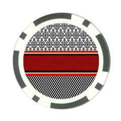 Background Damask Red Black Poker Chip Card Guard