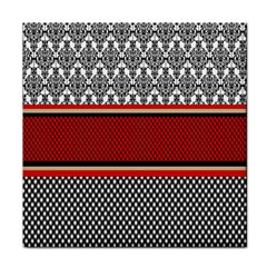 Background Damask Red Black Face Towel