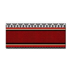 Background Damask Red Black Cosmetic Storage Cases