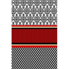 Background Damask Red Black 5.5  x 8.5  Notebooks