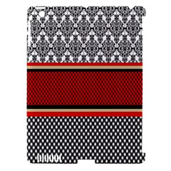 Background Damask Red Black Apple iPad 3/4 Hardshell Case (Compatible with Smart Cover)