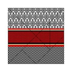 Background Damask Red Black Acrylic Tangram Puzzle (6  x 6 )